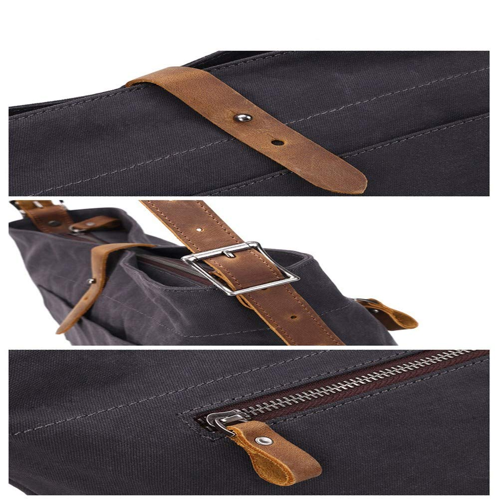 Retro mode tygväska dam pendling axel diagonal väska dam ledig med läder kanvas väska a