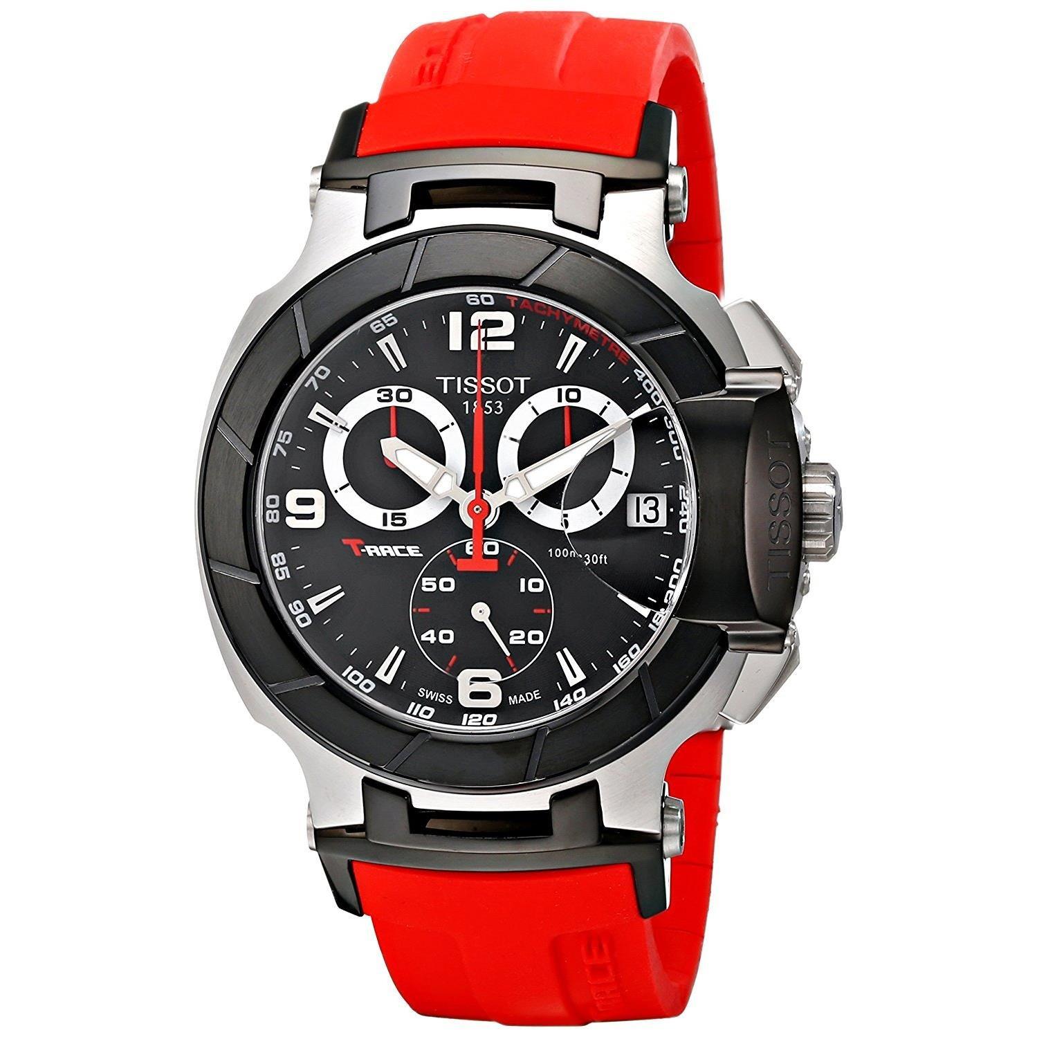 Tissot T-Race T0484172705701 - Reloj de Caballero de Cuarzo, Correa de Caucho