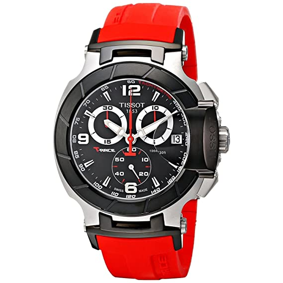 Tissot T-RACE T0484172705701 - Reloj de caballero de cuarzo, correa de caucho: Tissot: Amazon.es: Relojes
