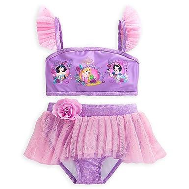 250dcbef30 Amazon.com  Disney Princess Deluxe Swimsuit for Girls - 2-Piece Size ...