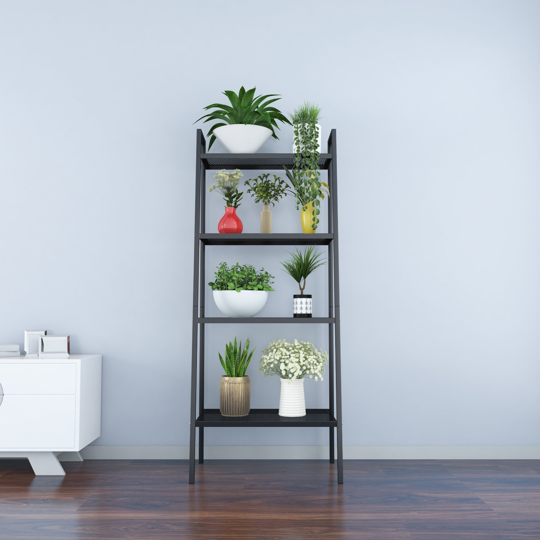 Amazon.com: 4-Tier Metal Ladder Display Shelf Plant Stand Organizer ...