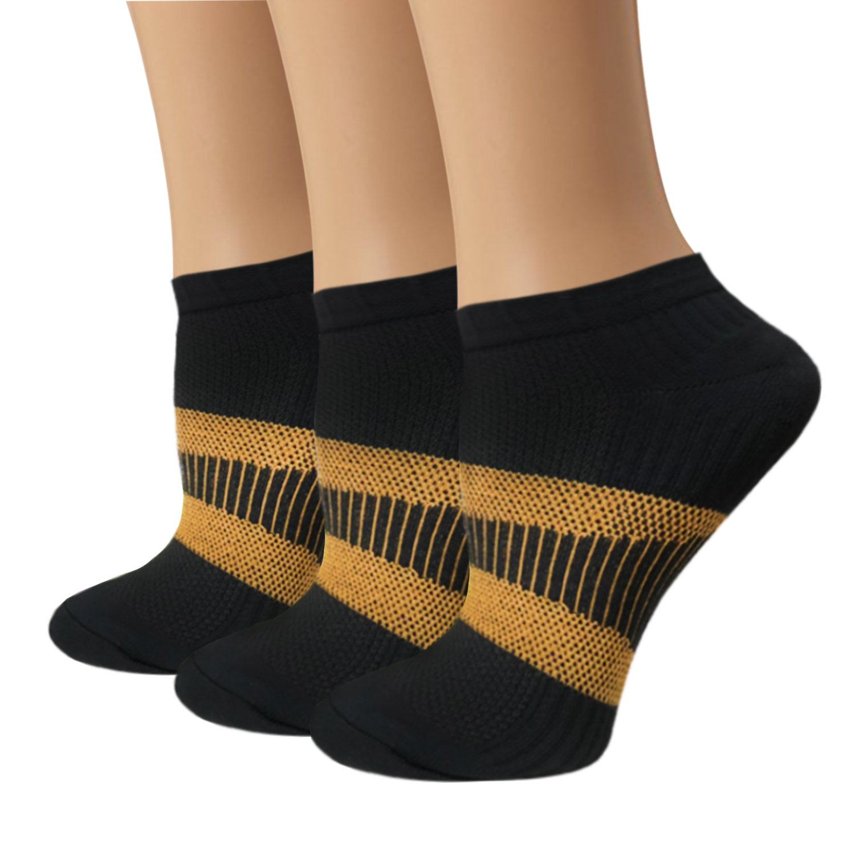Copper Compression Socks For Women & Men - Athletic Ankle Socks Best For Running, Sport, Pregnancy and Travel
