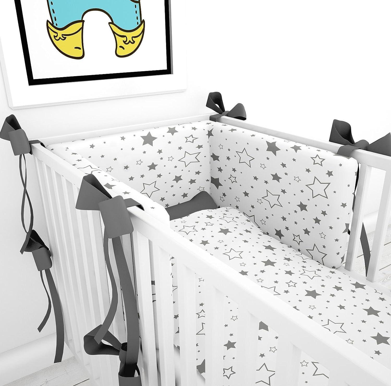 Tour de lit avec sch/ärpen multicolores pour le lit b/éb/é 70/x 140/cm lit Tour de lit tour de lit t/ête Protection Nid