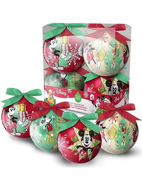 Foto Di Palle Di Natale.Set Di 4 Palle Di Natale Disney Mickey Multicolor