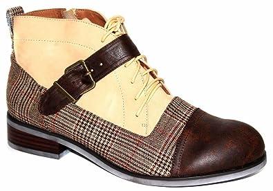 sports shoes 2b845 40574 Amazon.com | Jeffrey Campbell Colbert M Brown Plaid Combo ...