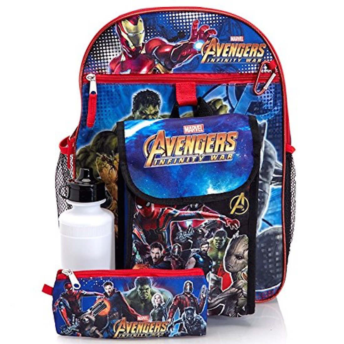 Marvel Avengers Kids 5 Piece Backpack Set - 16