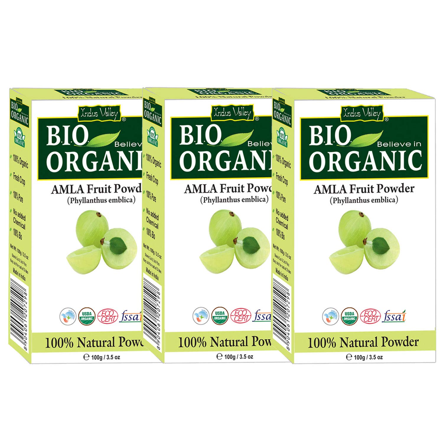 Indus Valley 100% Organic Amla Powder Pure, Natural And Fresh For Healthy Hair and Skin (300Gm) product image