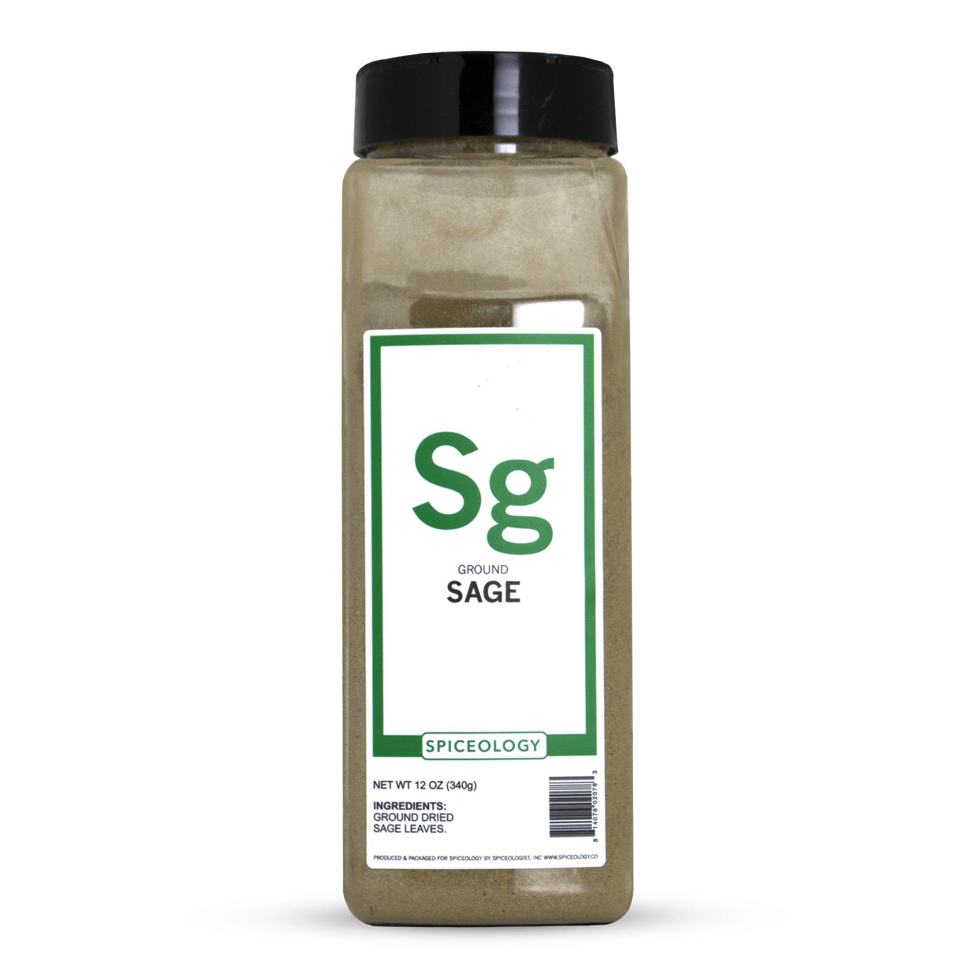 Spiceology Premium Spices - Ground Sage, 12 oz
