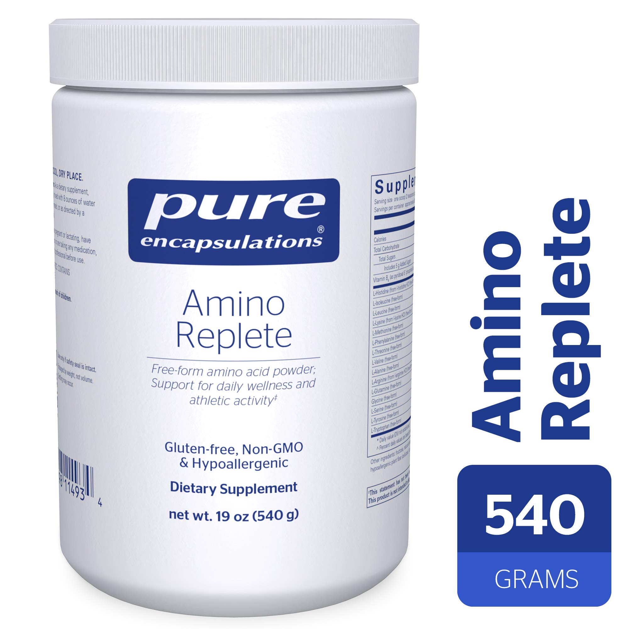Pure Encapsulations - Amino Replete - Hypoallergenic Free-Form Amino Acid Powder Supplement - 540 Grams