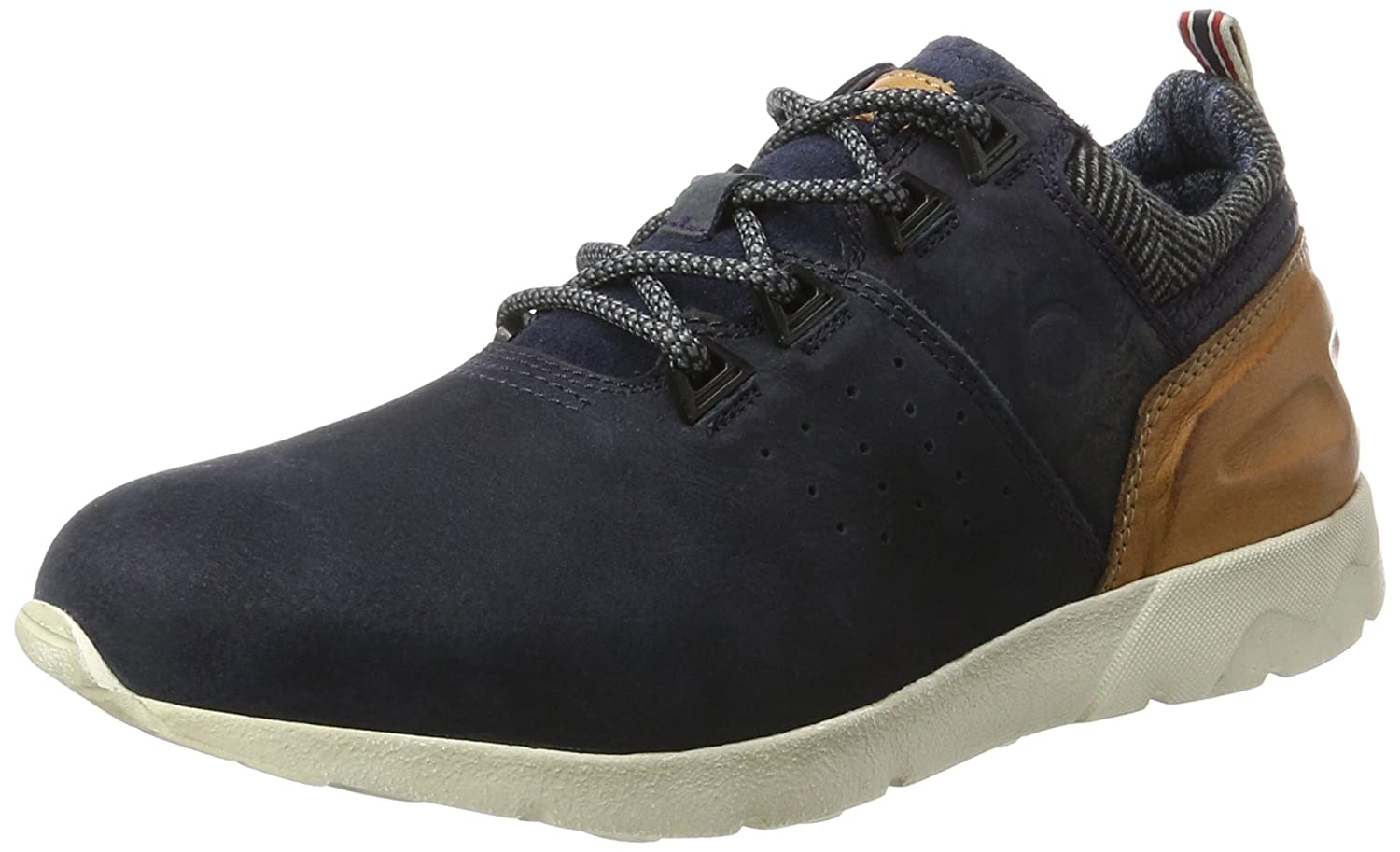 Mens 321342012510 Low-Top Sneakers, Dark Blue/Cognac Bugatti