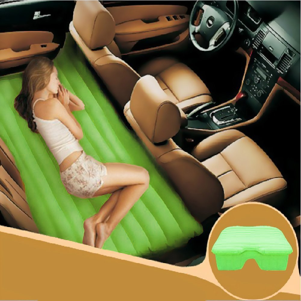 Car Travel Inflatable Mattress Car Inflatable Bed Car Bed (Green)