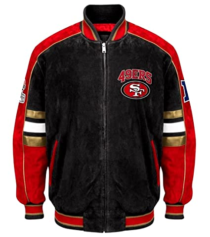 finest selection 70f14 25e08 Amazon.com : San Francisco 49ers Suede Jacket Leather NFL ...