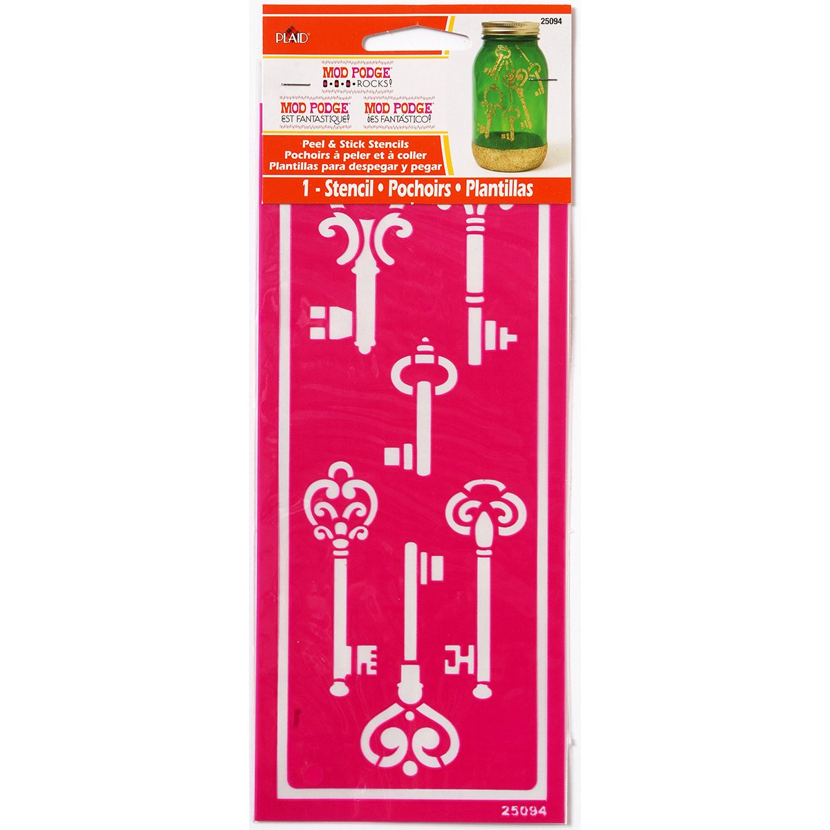 Mod Podge Peel & Stick Stencil-Skeleton Keys (並行輸入品)   B00JACI0CY