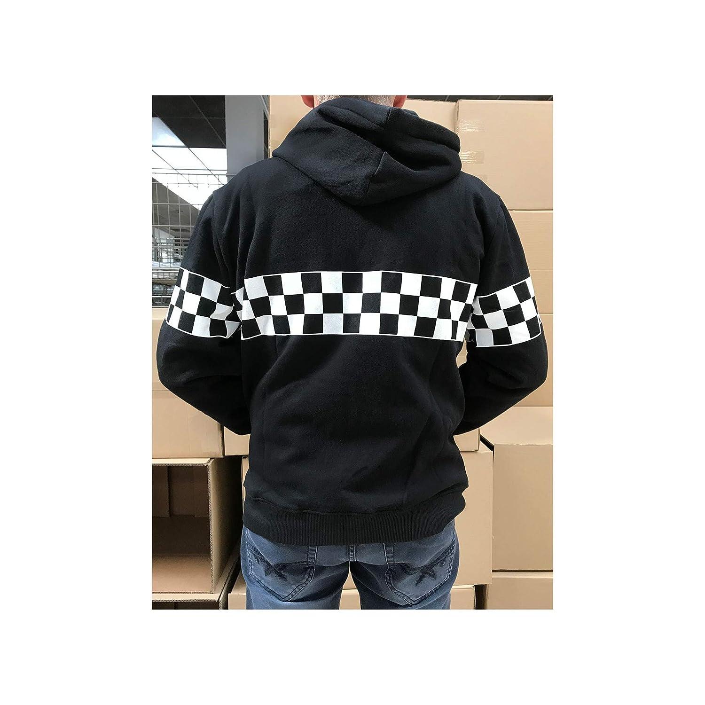 UISSOS Sweat Veste Gar/çon /À La Mode avec Imprimer Ska Veste Homme Trou dhomme avec Zipper Couleur Noir