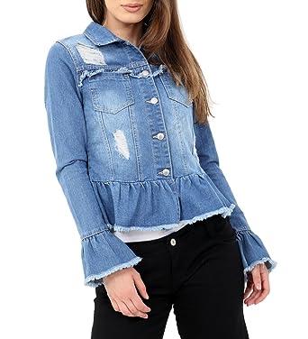 yet not vulgar hot-selling professional choose best SS7 Womens Peplum Frill Denim Jacket, Size 8 10 12 14 16 ...