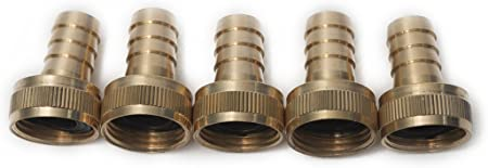 1 x Double Male Garden Hose Pipe Adaptor Joiner Fitting repair mender