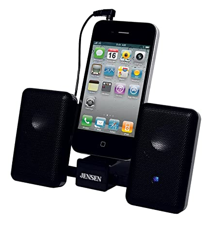 Jensen SMPS 225 Portable Stereo Speaker System With Carry Pouch For IPod,  IPhone And