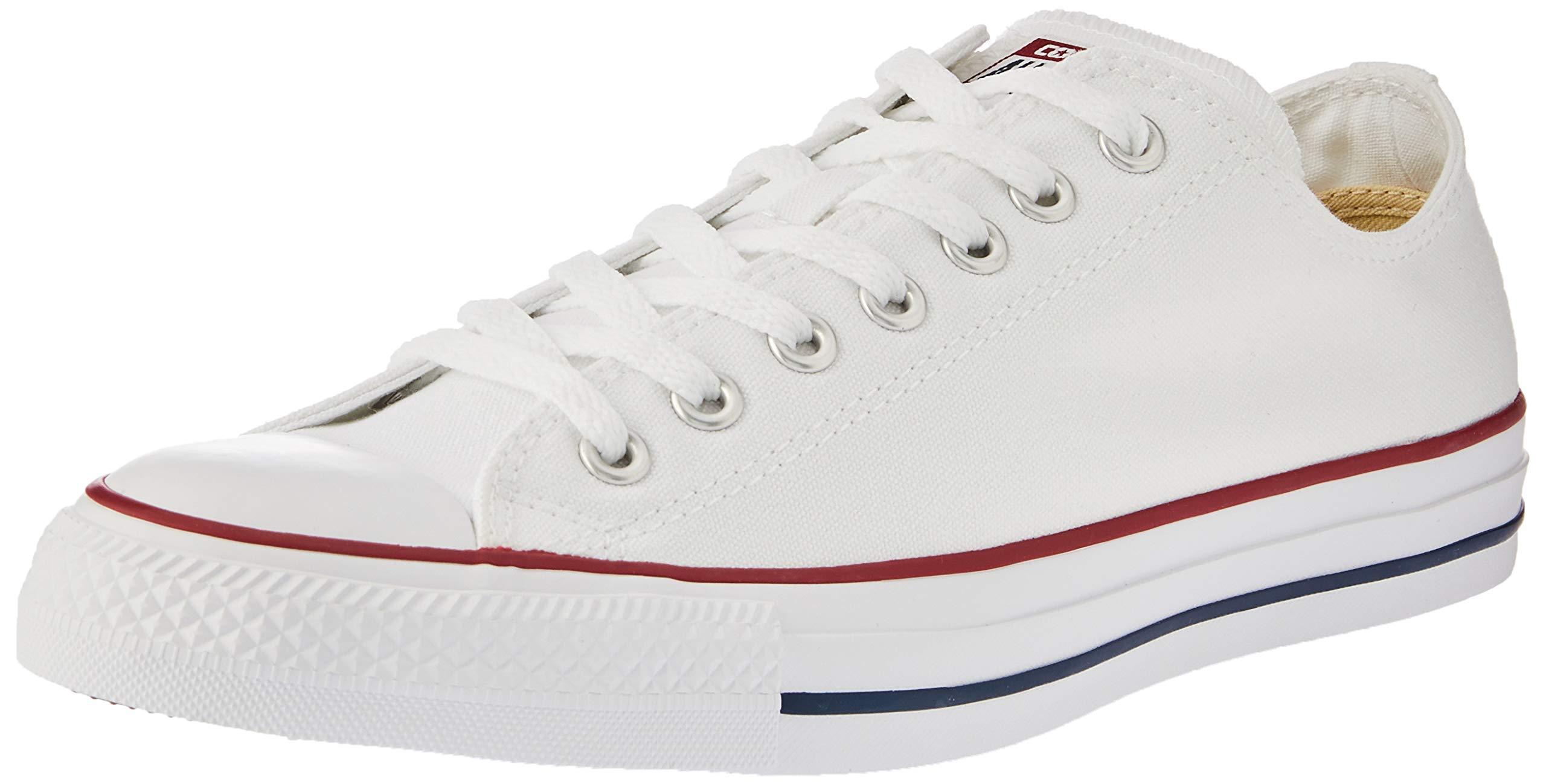 Converse Unisex Chuck Taylor All Star Low Top Optical White Sneakers - 12.5 B(M) US Women / 10.5 D(M) US Men