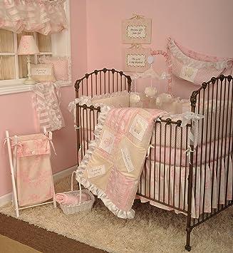 Amazon Com Cotton Tale Designs 8 Piece Bedding Set Heaven Sent Girl Crib Bedding Sets Baby