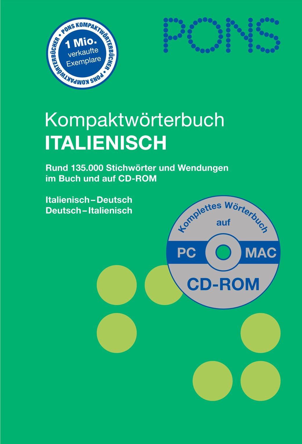Pons Kompaktwörterbuch Italienisch Rund 130000 Stichwörter Und