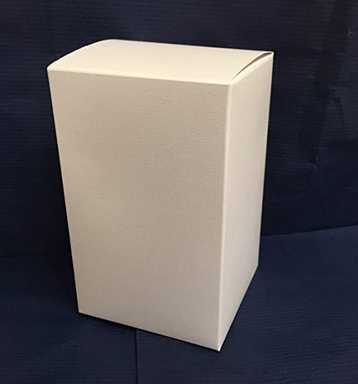 25 Cajas Estuche Plegable cartón x Bomboniere blanco 8 x 8 x 15 cm: Amazon.es: Hogar