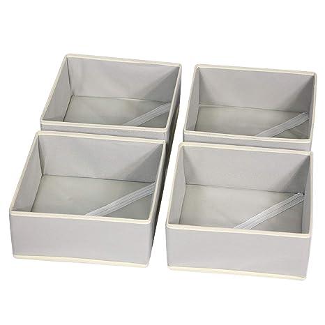 Amazon.com: DIOMMELL Caja de almacenamiento de tela plegable ...