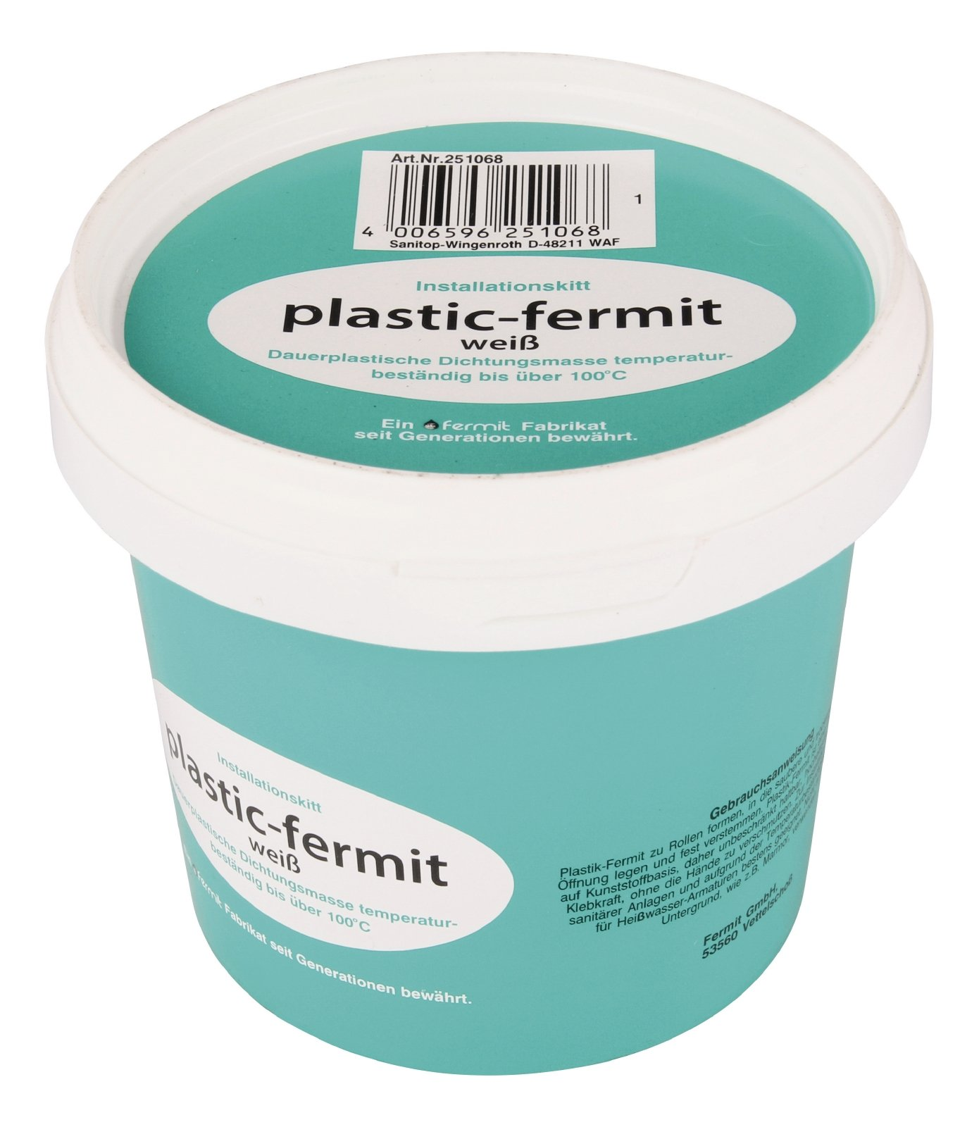 Sanitop-Wingenroth Plastic Fermit Installation Kit 500g, Qty 1, 251068