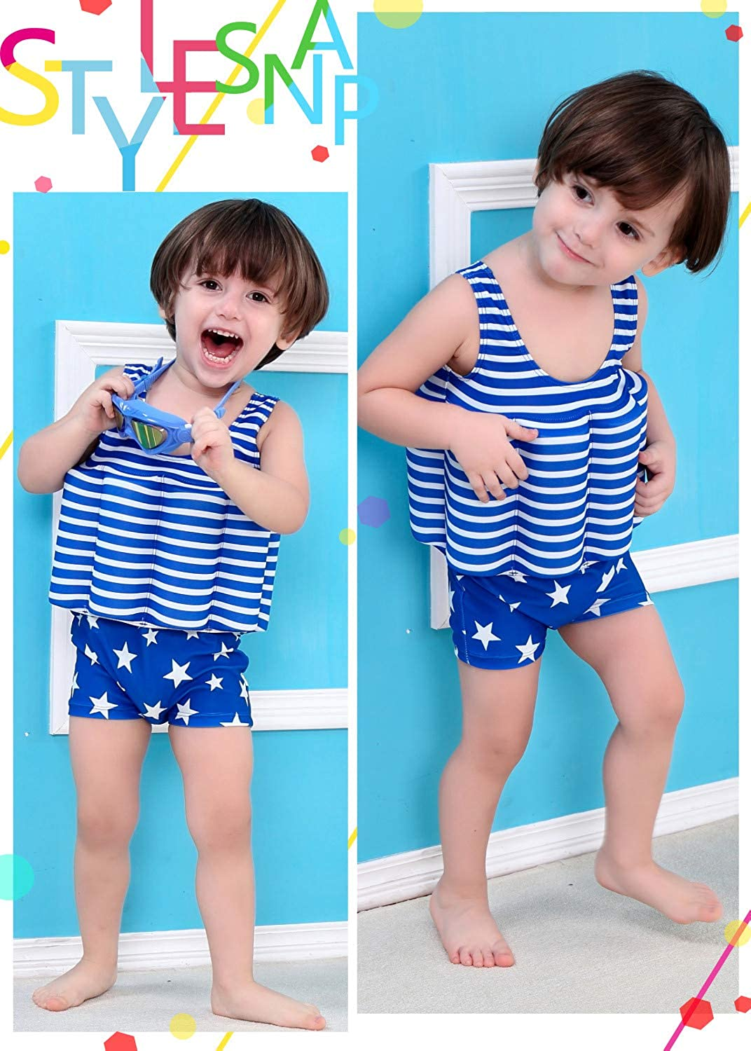 Baby Boy Girl Sun Protection Floating Swimwear with Adjustable Buoyancy Gifts Treat Kids Float Suit UPF 50+