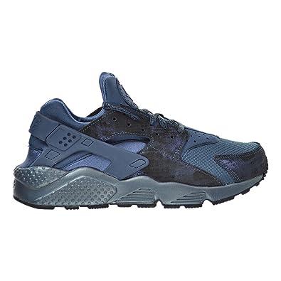 Nike Air Huarache Run PRM Women's Shoes Metallic Armory Navy/Squadron  Blue/Black 683818