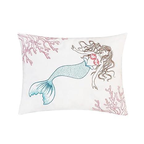 Amazon.com: C&F Home Coral - Cojín de sirena para interior y ...