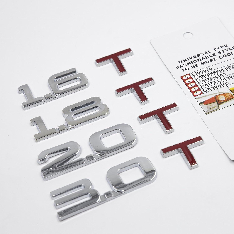 2.0T 1.6T 1.8T 2.0T 3.0T Turbo Trunk Emblem Badge Universal Type 4.3inch x 0.9inch