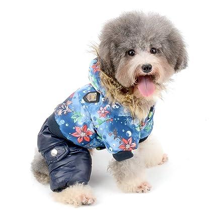 60eb558a2 Amazon.com   Zunea Waterproof Dog Snowsuit Windproof Fleece Linded ...