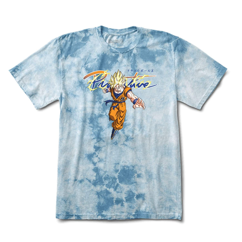 Slate Wash Primitive Nuevo Goku Super Saiyan Wash Tee