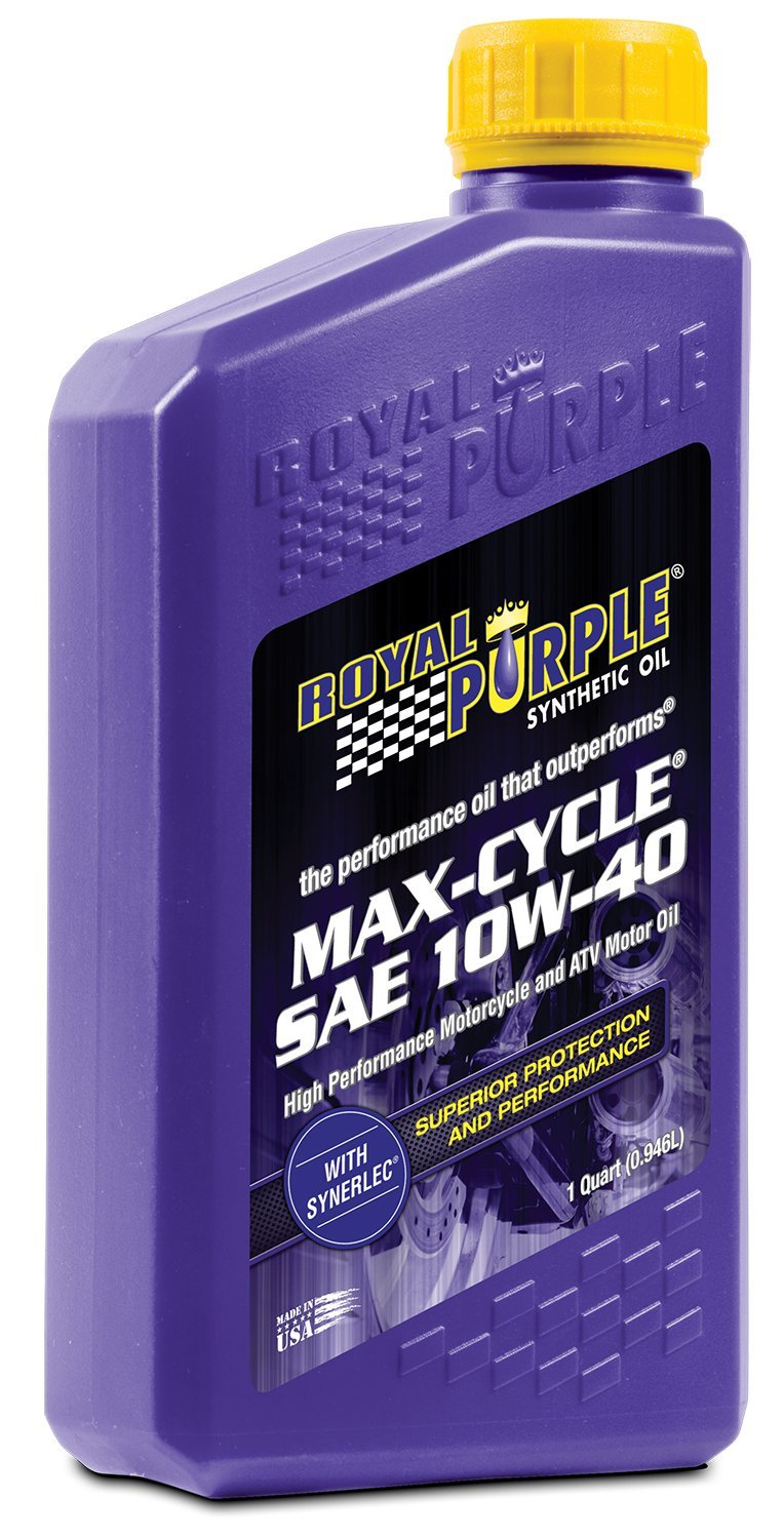 Royal Purple 1315 Motorcycle Oil Max SAE 10W40 (0.95l/1qt), 1 (Non-Carb Compliant) Johnston Research & Performance 21315