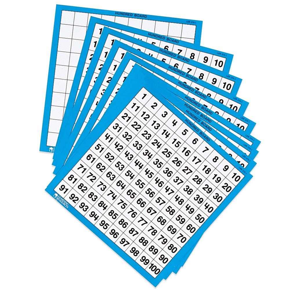 Amazon.com: Learning Resources Laminated Hundred Boards, Set of 10 ...