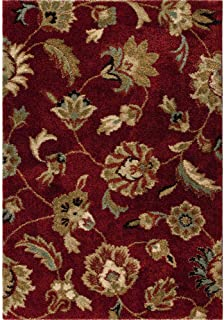 """product image for Orian Rugs Plush Floral London Red Area Rug (5'3"""" x 7'6"""")"""