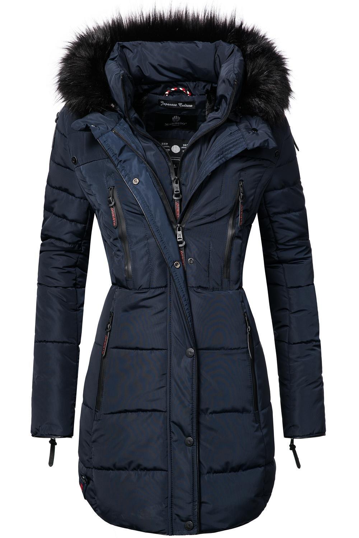 7fced0802f5 Marikoo Moonshine Abrigo Guateado Largo de Invierno para Mujer con Pelo 6  Colores XS-XXL