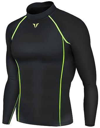 3b7ec6cc37 New 214 Black Skin Compression Tights Base Layer Running Shirts Men ...