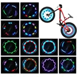 Bike Wheel Lights (2 Tire Pack) - Waterproof LED Bicycle Spoke Lights Safety Tire Lights - Great Gift for Kids Adults - 30 Di