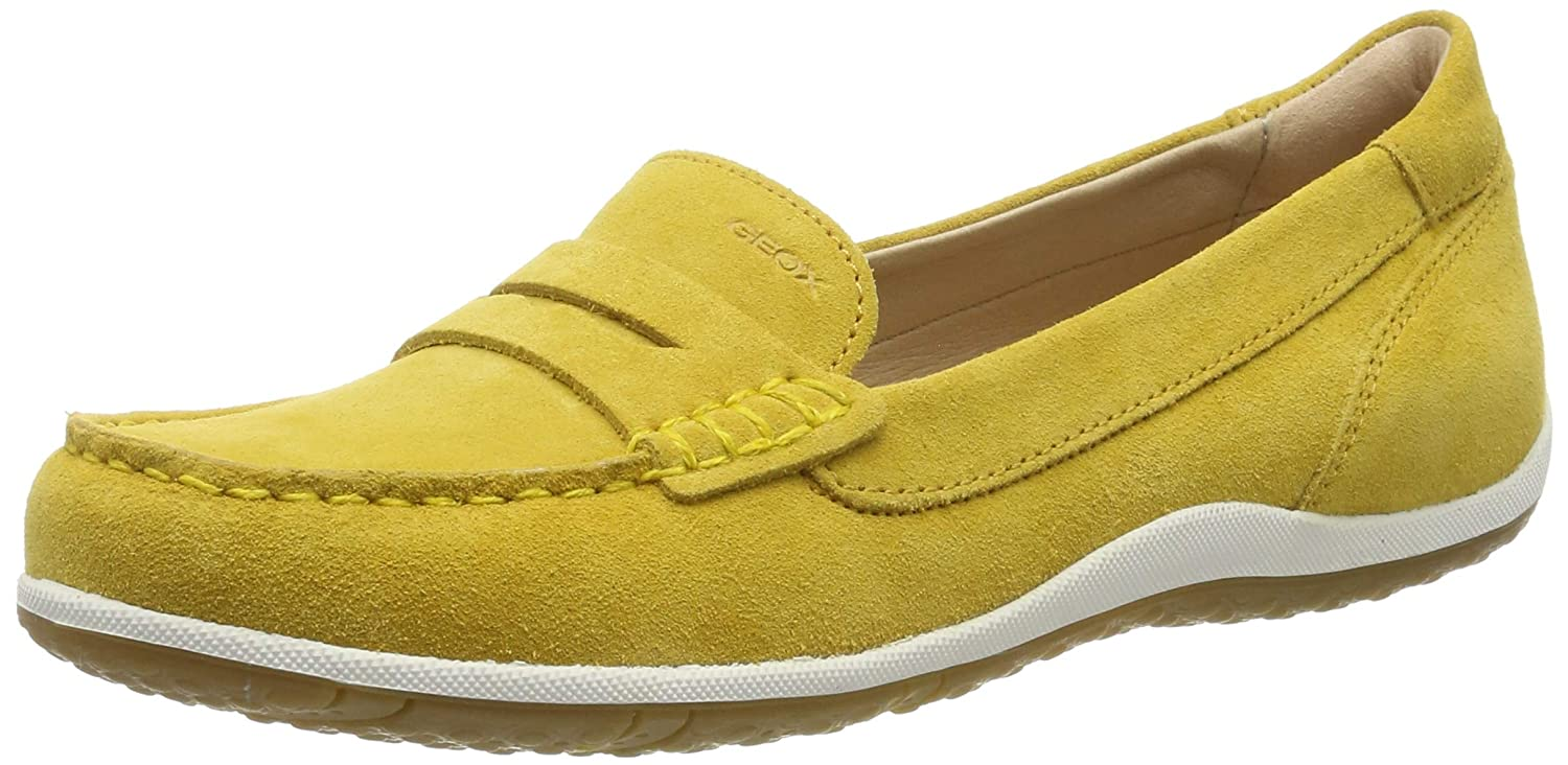 Ochreyello Geox Women's Vega 1 Suede Walking Penny Loafer