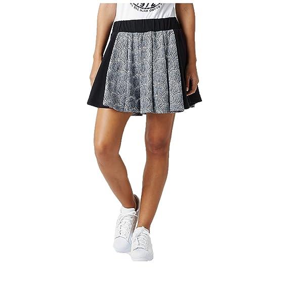 dc4753161 Adidas Originals Women's Shell Pleated Skirt-White/Black-Large: Amazon.co.uk:  Clothing