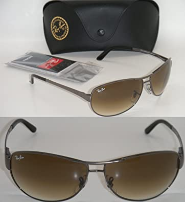 205ff22dcf RAY BAN RB 3342 004/51 60MM WARRIOR GUNMETAL FRAME/ BROWN GRADIENT NEW  AUTHENTIC: Amazon.co.uk: Shoes & Bags