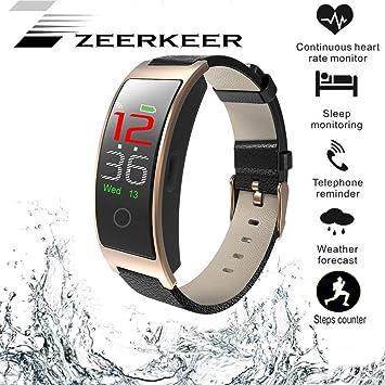 Moniteur dactivité ZEERKEER Smart Watch avec Moniteur de fréquence Cardiaque, Bracelet Intelligent étanche