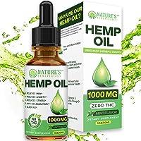 Organic Hemp Oil 1000MG - Ultra-Premium Pain Relief Anti-Inflammatory, Stress &...