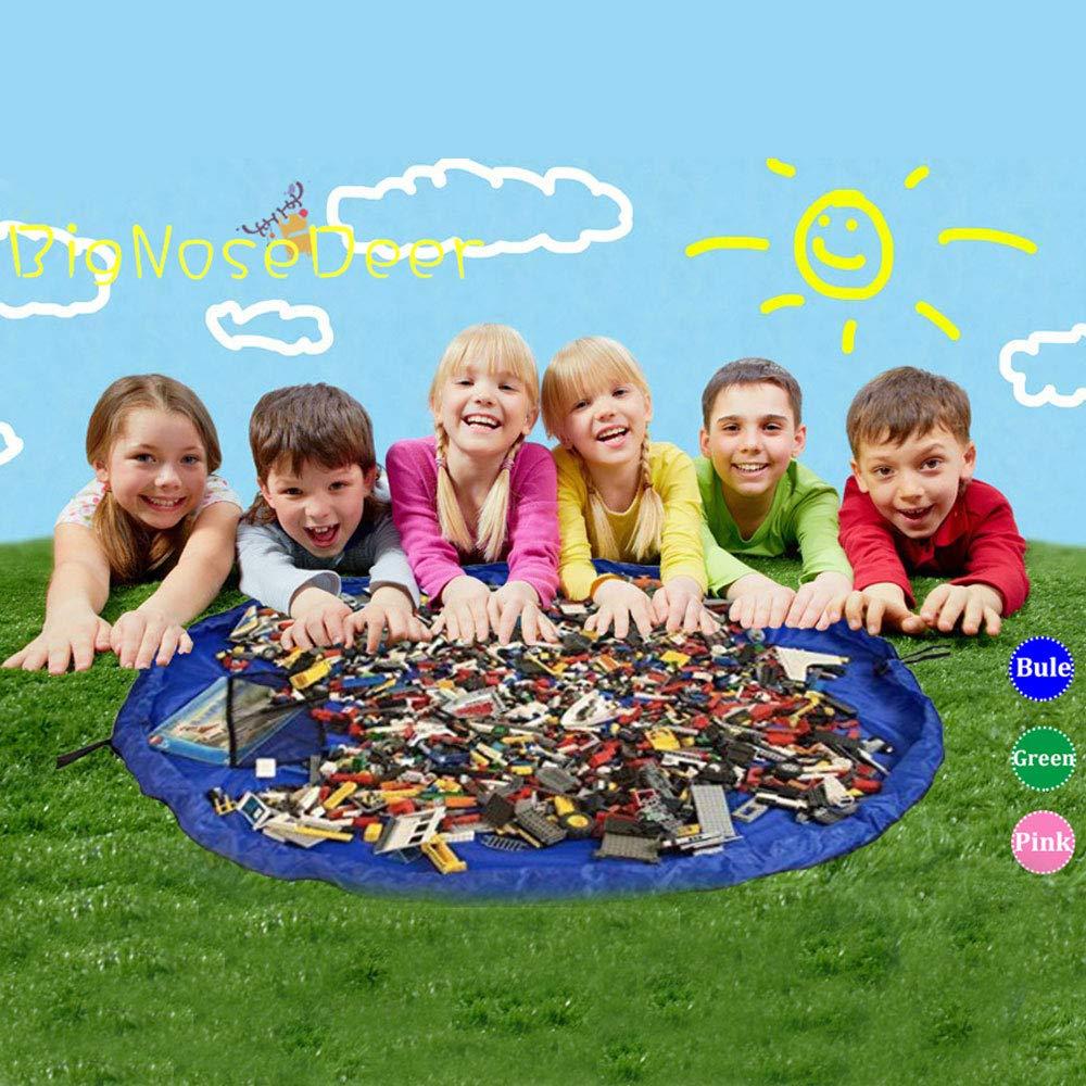Blu 150 cm Giocare ai bambini Mat BigNoseDeer Bambino del giocattolo del giocattolo del bambino di immagazzinaggio del bambino Organizzatore del giocattolo del bambino 60 pollici