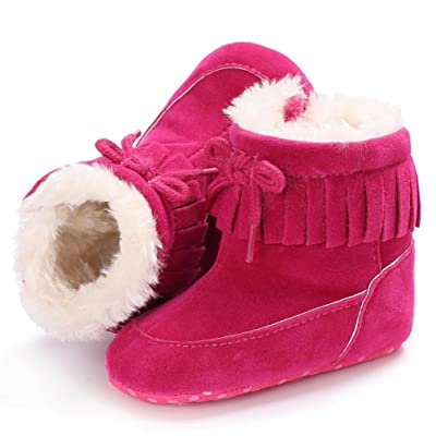 Baby Cotton Boots,Cywulin Winter Warm Soft Sole First Walker Crib Snow Shoes