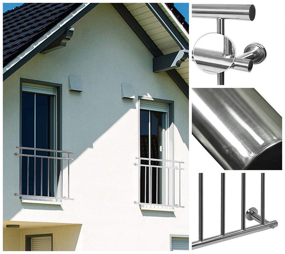 Home Deluxe Balkongeländer | Verschiedene Größen | Rostfreies V2A Edelstahl | Inklusive Zubehör | 100 x 90 cm Home Deluxe GmbH
