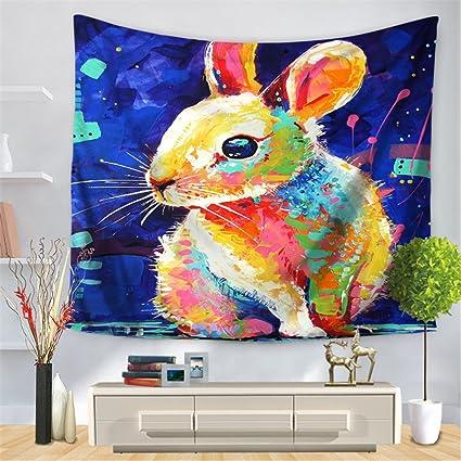 Moderno tapiz rectangular con impresión digital, diseño de animales pintados a la moda, toalla