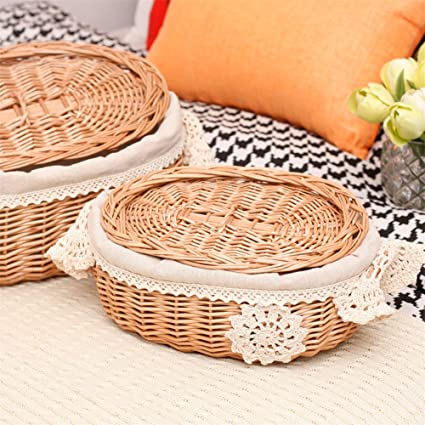 Amazon Com Wonderfulwu Storage Basket Wicker Rattan Storage Basket