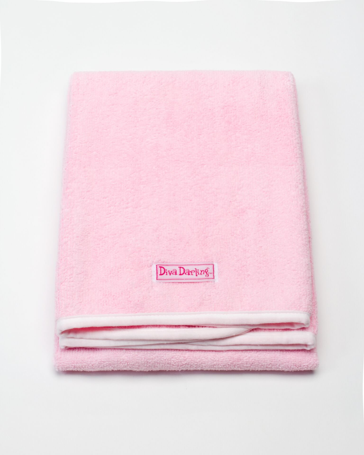 Diva Darling, Easy To Use & Super Absorbent Microfiber Hair Towel, Pink (19 x 39-Inches) by Diva Darling